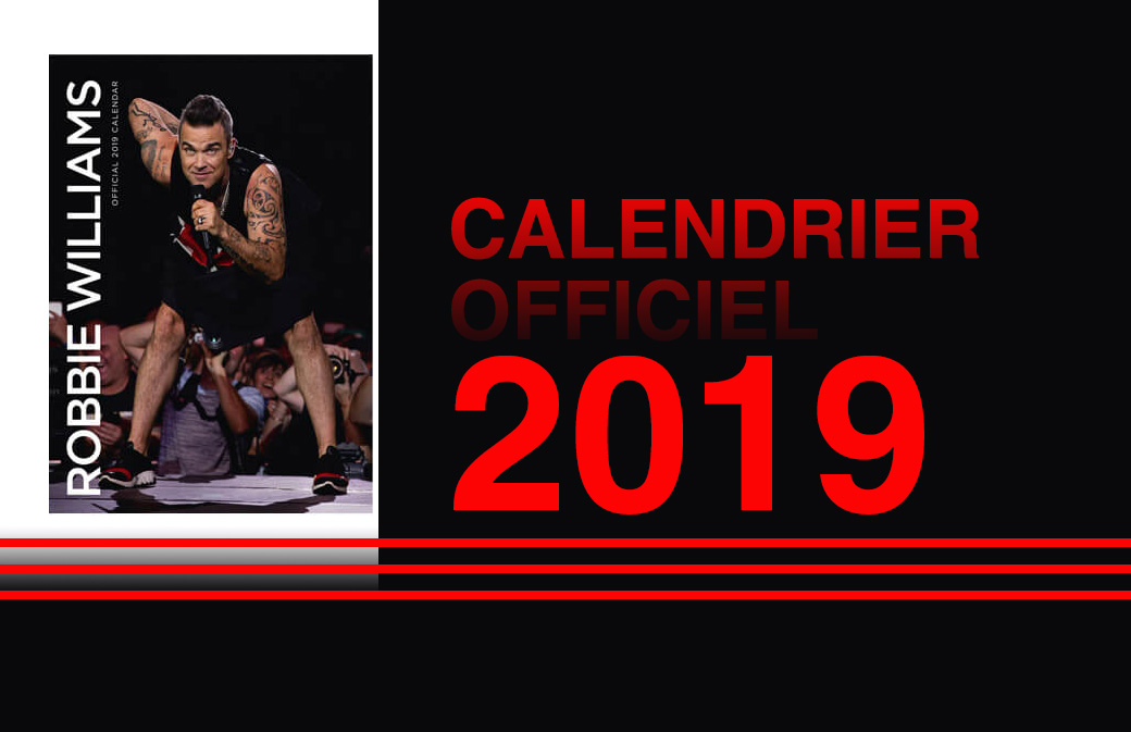 Calendrier Officiel 2019 : il arrive! Commandez-le maintenant!