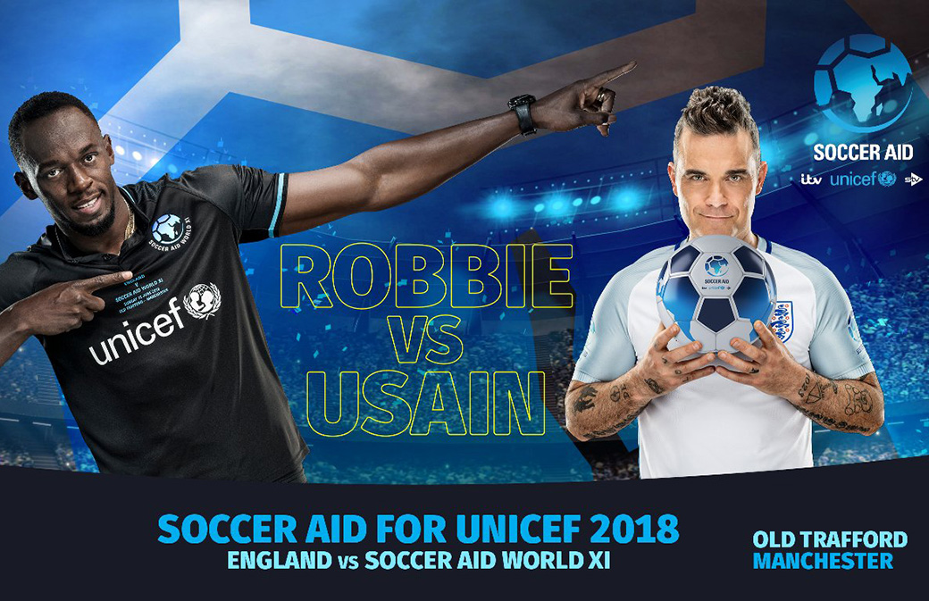 Football : Robbie Williams s'offre Usain Bolt