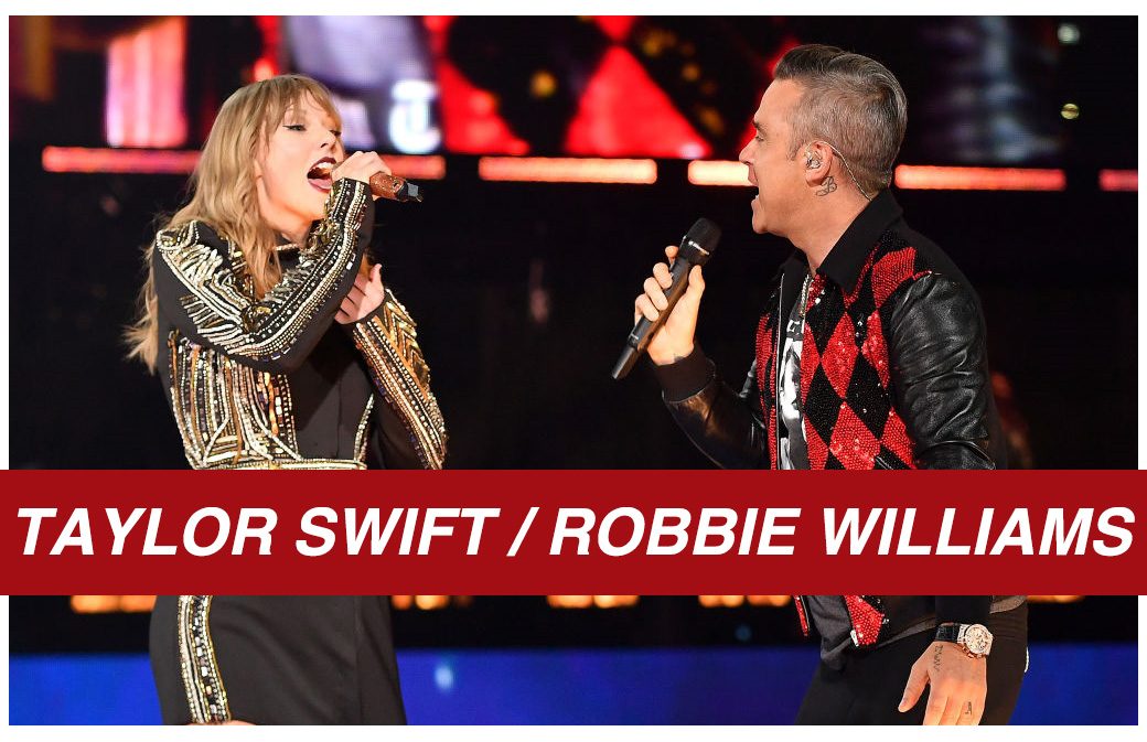 Duo surprise entre Taylor Swift et Robbie Williams à Londres