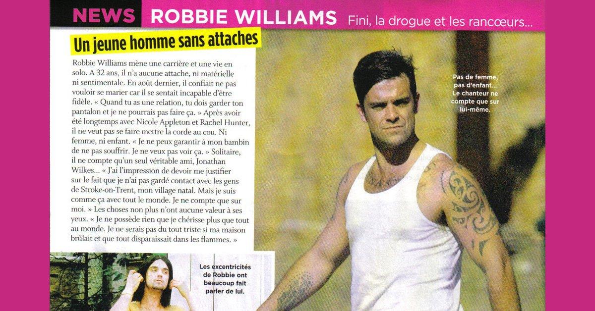 Article : Robbie dans Closer