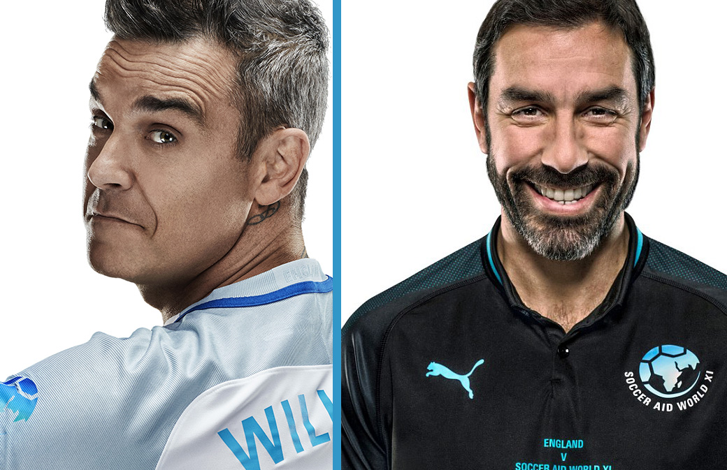 Robbie Williams invite Robert Pirès!