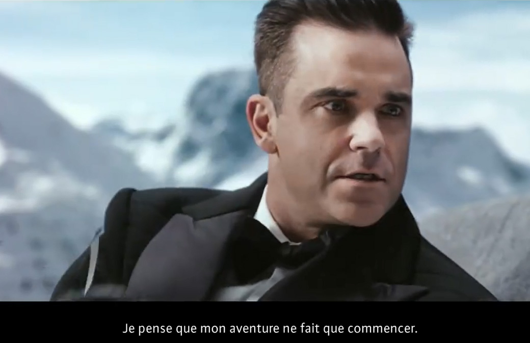 Robbie Williams en pleine action avec Café Royal