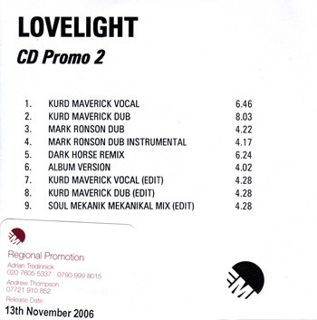 Lovelight - CD Promo 2