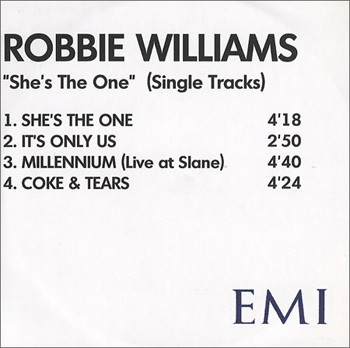She's The One / It's Only Us (Promo 3)